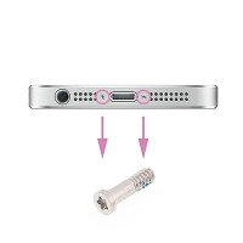 Šroubek na spodní část Apple iPhone 5 / 5S / SE / 6 / 6S / 6 Plus / 6S Plus - stříbrný - kvalita A+