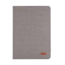 Pouzdro KAKUSIGA pro Apple iPad Air 1 / Air 2 / Pro 9,7 / 9,7 (2017-2018) - látková textura - šedé / hnědé