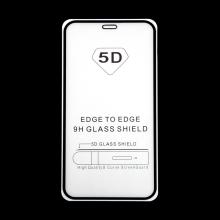 """Tvrzené sklo (Tempered Glass) """"5D"""" pro Apple iPhone 12 mini - 2,5D - černý rámeček - čiré - 0,3mm"""