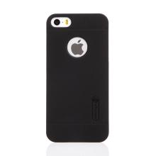 Kryt NILLKIN Super Frosted pro Apple iPhone 5 / 5S / SE - plastový - s výřezem pro logo - černý