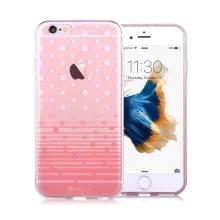Kryt DEVIA pro Apple iPhone 6 / 6S gumový - puntíky / průhledný