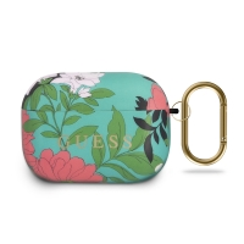 Pouzdro / obal GUESS pro Apple AirPods Pro - silikonové - květinový motiv