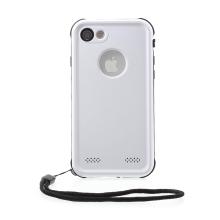 Pouzdro RedPepper Dot+ pro Apple iPhone 7 / 8 - voděodolné - plastové - černé / bílé