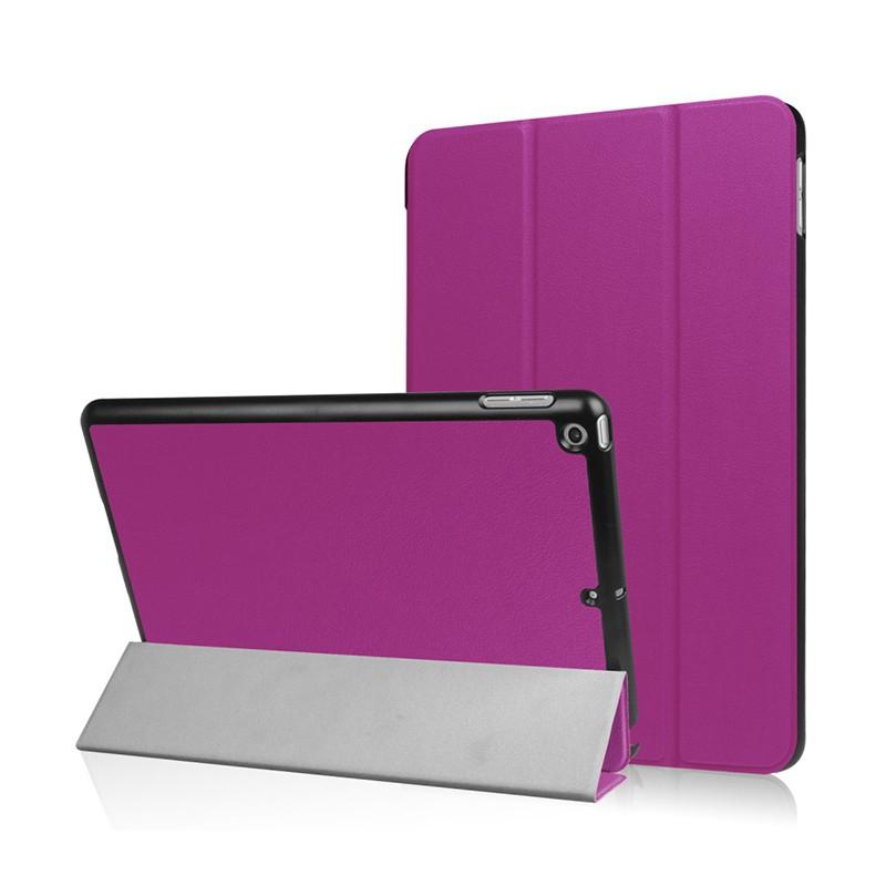 Pouzdro / kryt pro Apple iPad 9,7 (2017-2018)- funkce chytrého uspání + stojánek - fialové
