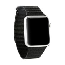 Elegantní řemínek BASEUS + magnetické upínání / uzavírání pro Apple Watch 42mm Series 1 / 2 / 3 - černý