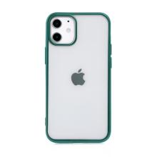 Kryt FORCELL Electro Matt pro Apple iPhone 12 mini - gumový - průhledný / zelený