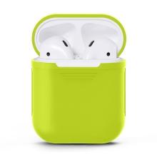 Pouzdro / obal pro Apple AirPods - silikonové - zelené