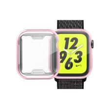 Kryt pro Apple Watch 4 / 5 / 6 / SE 40mm - růžový - gumový