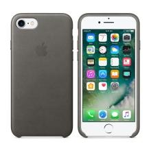 Originální kryt pro Apple iPhone 7 / 8 - kožený - bouřkově šedý