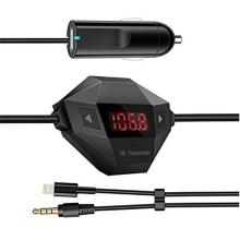 Autonabíječka USB (2A) + FM transmitter / vysílač - mini provedení - černá