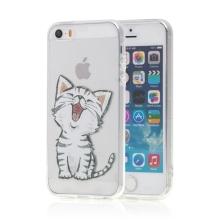Kryt pro Apple iPhone 5 / 5S / SE - gumový - kotě - průhledný