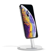 Dock / stojánek SATECHI pro Apple iPhone - hliníkový - stříbrný