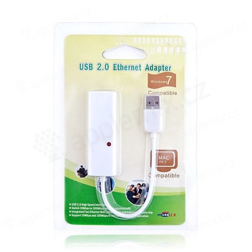 Ethernet USB adaptér dongle - 10/100Mbps, RJ45, USB 2.0