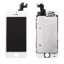 Osazená přední čast (LCD panel, touch screen digitizér atd.) pro Apple iPhone 5S / SE - bílý - kvalita A