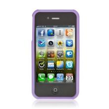 Kryt / pouzdro pro Apple iPhone 4 / 4S plastový bílý / fialový