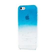 Kryt pro Apple iPhone 5 / 5S / SE - plastový - modrý / průhledný - kapky vody