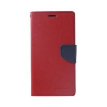 Pouzdro  Mercury Fancy Diary pro Apple iPhone Xs Max - stojánek a prostor pro doklady - červené / modré