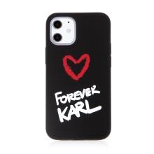 Kryt KARL LAGERFELD Forever pro Apple iPhone 12 mini - silikonový - černý