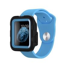 Pouzdro / kryt GRIFFIN Survivor pro Apple Watch 42mm series 1 / 2 / 3 - plastové - černé / modré