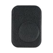 Náhradní plíšek pro magnetické držáky - kožená textura - 2ks - černé