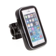 Pouzdro Blue Star - 360° otočný držák na kolo / motorku pro Apple iPhone 4 / 4S / 5 / 5C / 5S / SE - černé