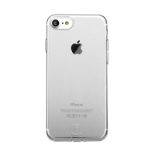 Kryt Baseus pro Apple iPhone 7 / 8 gumový / antiprachové záslepky - průhledný
