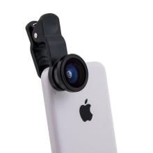 Multifunkční objektiv 3v1 s klipem pro Apple iPhone a jiná zařízení