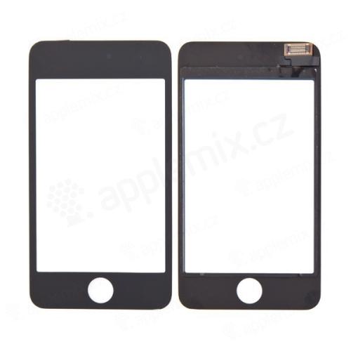 Přední dotykové sklo (touch screen) pro Apple iPod touch 3.gen. - černý rámeček - kvalita A