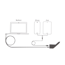Autonabíječka pro Apple MacBook - konektor MagSafe - bílá