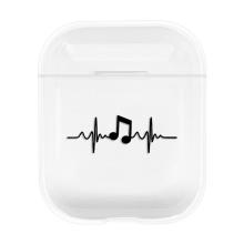 Pouzdro / obal pro Apple AirPods - plastové - srdeční rytmus