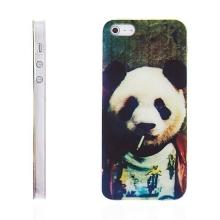 Kryt pro Apple iPhone 5 / 5S / SE - plastový - cool panda s cigárem