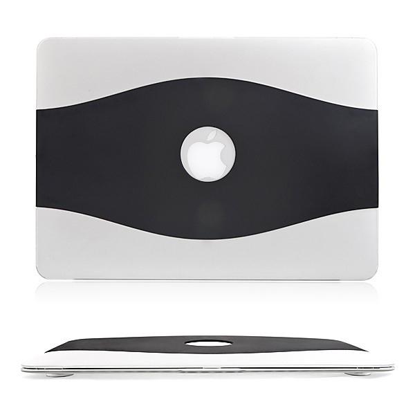 Ultra tenký plasto-gumový obal pro Apple MacBook Air 11.6 - černo-průhledný