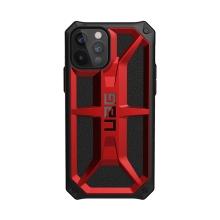 Kryt UAG Monarch pro Apple iPhone 12 / 12 Pro - plastový / kožený - červený