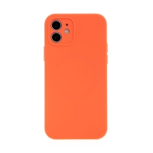 Kryt USAMS pro Apple iPhone 12 - MagSafe kompatibilní - příjemný na dotek - silikonový - červený