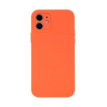 Kryt USAMS pro Apple iPhone 12 - MagSafe kompatibilní - příjemný na dotek - silikonový - oranžový