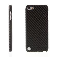 Plastový kryt pro Apple iPod touch 5.gen. - karbonový vzor - černý