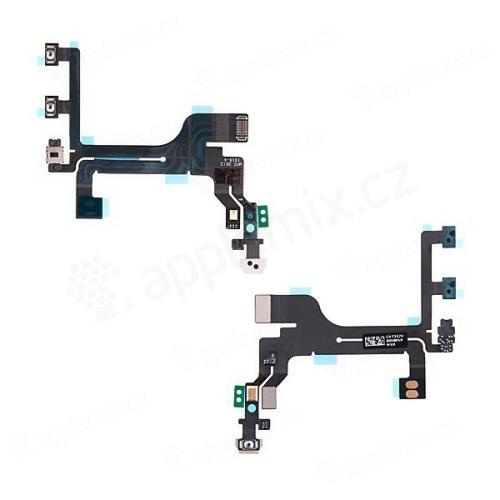 Flex kabel s mikrospínači POWER, VOLUME, přepínač MUTE pro Apple iPhone 5C - kvalita A+