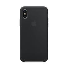Originální kryt pro Apple iPhone X - silikonový - černý
