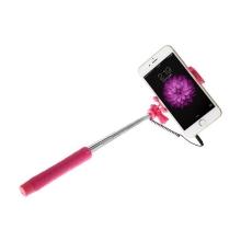 Teleskopická selfie tyč / monopod BASEUS - kabelová spoušť - růžová