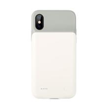 Externí baterie / kryt BENKS pro Apple iPhone X - 3200 mAh - šedá / bílá