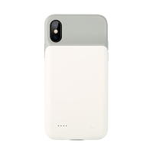 Externí baterie / kryt USAMS pro Apple iPhone X / Xs - 3200 mAh - šedá / bílá