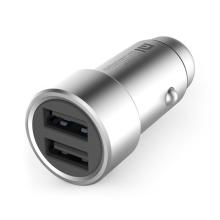 Autonabíječka XIAOMI - 2x USB (3,6A) - stříbrná