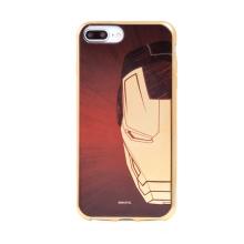 Kryt MARVEL Luxury pro Apple iPhone 6 Plus / 7 Plus / 8 Plus - gumový - červený / zlatý - Iron Man