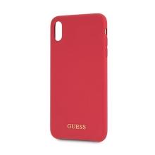 Kryt GUESS Silicone pro Apple iPhone Xs Max - silikonový - červený