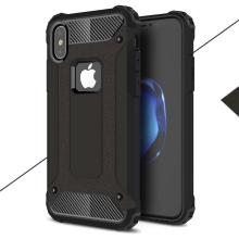 Kryt pro Apple iPhone X - odolný - plastový / gumový - černý