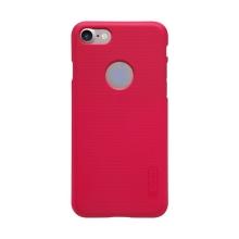 Kryt Nillkin pro Apple iPhone 7 / 8 plastový / jemná povrchová struktura, výřez pro logo - červený + ochranná fólie