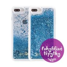 Kryt GUESS pro Apple iPhone 6 Plus / 6S Plus / 7 Plus / 8 Plus - plastový - glitter / modré třpytky