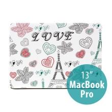 Ochranný plastový obal pro Apple MacBook Pro 13 (model A1278) - motiv Eiffelovka