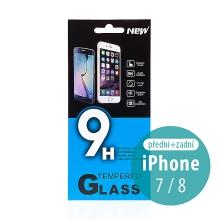Tvrzené sklo (Tempered Glass) pro Apple iPhone 7 / 8 - na přední a zadní stranu - 0,33mm