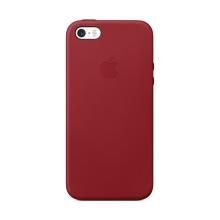 Originální kryt pro Apple iPhone 5 / 5S / SE - kožený - červený